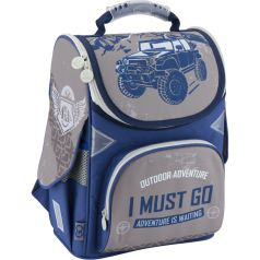 GoPack Ранец школьный Outdoor Adventure (серо-синий)