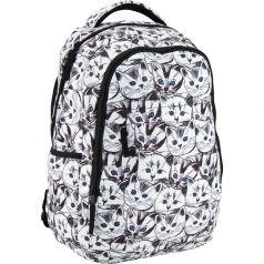 GoPack Рюкзак GO (белый с принтом)
