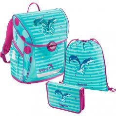 Hama Школьный ранец BaggyMax Fabby Dolphin с наполнением