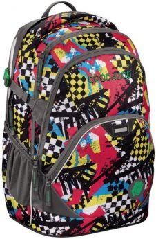 Coocazoo Рюкзак EvverClevver2 Checkered Bolts (красно-черный)