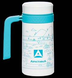 Арктика Термокружка 0,5 литров с рисунком белая