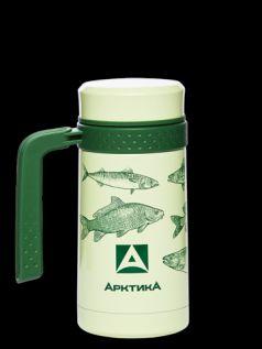 Арктика Термокружка 0,5 литров с рисунком зеленая