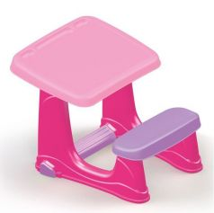 Dolu Парта со скамейкой розовая