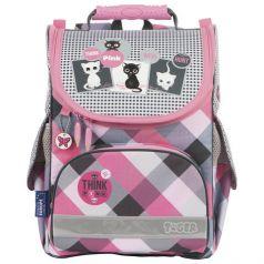 TIGER FAMILY Ранец для школы Think Pink (серо-розовый)