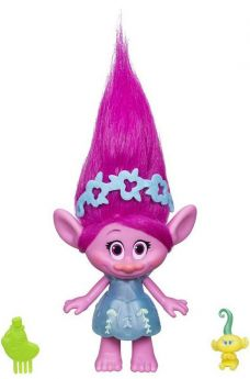 Hasbro Игровой набор Trolls Фигурка Розочки c заколочками для волос