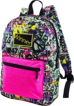 Winner Рюкзак для подростков серо-розовый