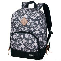 Mike&Mar Рюкзак для девочки Classic Цветы серый