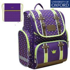 Mike&Mar Ранец школьный Oxford с мешком для обуви фиолетовый