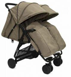 Прогулочная коляска для двоих детей Cozy Smart (dark sand melange)
