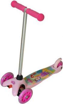 """Самокат 1TOY Disney Принцессы 5""""/4"""" розовый Т58416"""