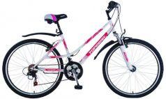 "Велосипед Top Gear ""Style 210"" 26"" бело-розовый"