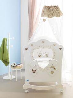 Кроватка-качалка Pali Celine (белый)