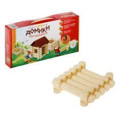 Деревянный конструктор Эра Домики для Гномиков, 3 комбинации домиков 11 элементов