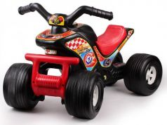 Каталка-машинка ТехноК Квадроцикл 4111 черно-красный от 1 года пластик