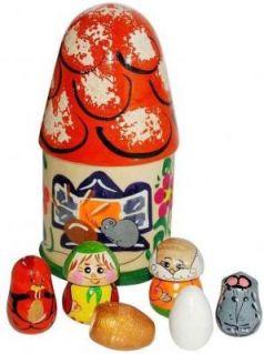 """Пальчиковый театр в домике Русские народные игрушки """"Курочка ряба"""" Р-45/776"""