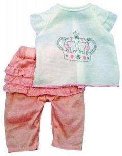 Одежда для куклы Mary Poppins 38-43см, футболка и штанишки 452030