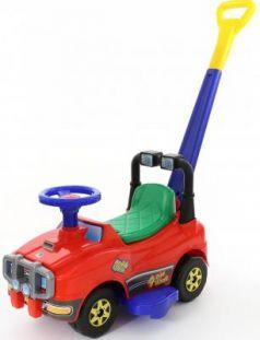 Каталка-машинка Полесье Джип с ручкой и гудком красный от 1 года пластик 62918