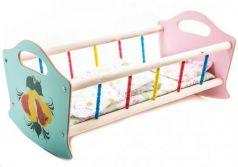 Кроватка для кукол Деревянные игрушки - Владимир деревянная большая СУС3