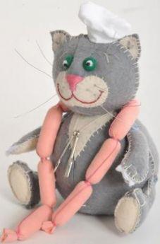 Набор для создания игрушки Перловка Кот обжора от 5 лет ПФЗД-1004