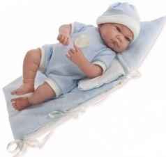 Кукла Munecas Antonio Juan Juan Ферран в голубом 40 см смеющаяся со звуком