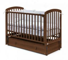 Кровать с маятником на колесах Fiorellino Tina (oreh)