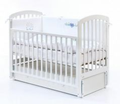 Кровать с маятником на колесах Fiorellino Tina (white)
