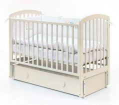 Кровать с маятником на колесах Fiorellino Tina (ivory)