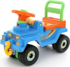 Каталка-машинка Molto Джип 4х4 голубой от 1 года пластик 62789