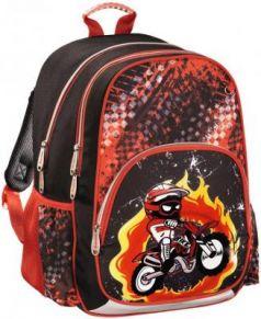 Рюкзак HAMA Motorbike 14 л черный красный 00139086