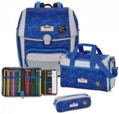 Ранец с наполнением Scout Genius Exklusiv Пират-нидзя 18.5 л синий 764006-110