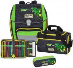 Ранец с наполнением Scout Genius Exklusiv Тираннозавр 18.5 л зеленый черный 764006-959