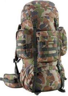 Рюкзак с анатомической спинкой CARIBEE Platoon 70 защитный 70 л серый зеленый