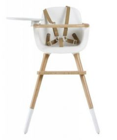 Стульчик для кормления Micuna OVO Plus One (white-natural/ремни beige)