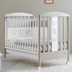 Кроватка Pali Merlino (белый/серо-песочный)