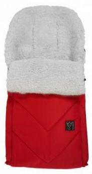 Конверт меховой Kaiser Dublas (red+natural white)
