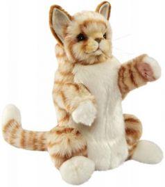 Мягкая игрушка кот Hansa Рыжий кот, на руку плюш рыжий 30 см 7182