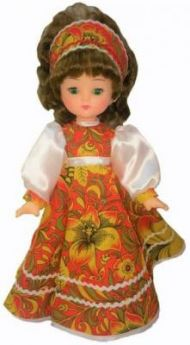 Кукла Мир кукол Василина хохлома 45 см в ассортименте
