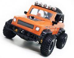 Машинка на радиоуправлении Пламенный мотор Джип Сафари пластик, металл от 5 лет оранжевый