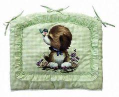 Бампер в кроватку Золотой Гусь Алёнка (зелёный)