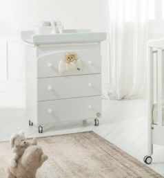 Пеленальный комод с ванночкой Baby Expert Trudino (белый)