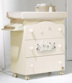 Пеленальный комод с ванночкой Baby Expert Sogno (кремовый)