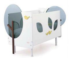 Кроватка Baby Expert Bosco (белый/зеленый)