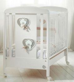 Кроватка-качалка Baby Expert Bon Bon Duetto (белый/серо-бежевый)