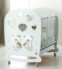 Кроватка-качалка Baby Expert Bon Bon (белый/серо-бежевый)