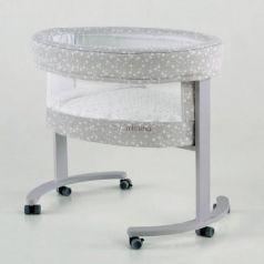 Колыбель с деревянной подставкой c LED системой Micuna Smart Fresh (stars/white)