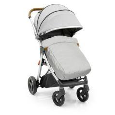 Прогулочная коляска с накидкой на ножки Oyster Zero (pure silver)