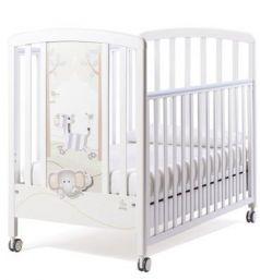 Кроватка Italbaby Zerby (белый-зебрёнок-cлонёнок-деревья-птички/070,0440-)