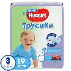 HUGGIES Подгузники-трусики PANTS Annapurna размер 3 7-11кг 19шт для мальчиков