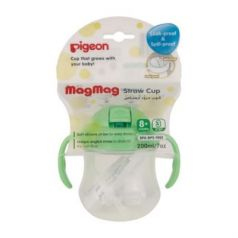 PIGEON Поильник MagMag с трубочкой 8 мес 200мл