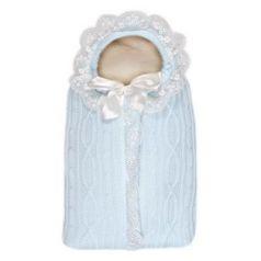 Конверт с 1 молнией Сонный Гномик Зимняя Радость (голубой)